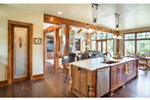 Shingle House Plan Kitchen Photo 04 - Leigh Lane Rustic Country Ranch House | House Plans and More