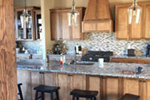 Shingle House Plan Kitchen Photo 06 - Leigh Lane Rustic Country Ranch House | House Plans and More