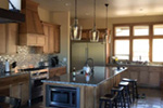 Shingle House Plan Kitchen Photo 07 - Leigh Lane Rustic Country Ranch House | House Plans and More