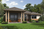 Contemporary House Plan Rear Photo 01 - Lefton Prairie Ranch Home 011D-0348 | House Plans and More