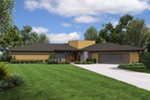 Florida House Plan Front of Home - Perida Contemporary Home 011D-0349 | House Plans and More