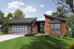 Modern House Plan Front of Home - Shay Rustic Modern House Plans | Mid-Century Modern House Plans