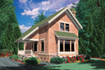 Shingle House Plan Front of Home - Weslan Narrow Lot Home 011D-0358 | House Plans and More