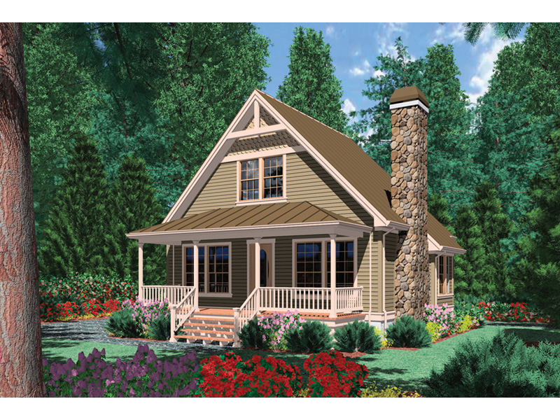 Cabin & Cottage House Plan Front Photo 01 - Copper Creek Rustic Cabin 011D-0359 | House Plans and More