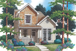 Farmhouse Plan Front of Home - Larkin Lane Craftsman Home  011D-0367 | House Plans and More