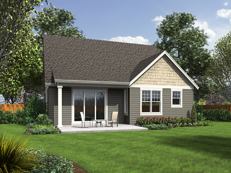 Modern Farmhouse Plan Rear Photo 01 - Meriweather Craftsman Home  011D-0376 | House Plans and More