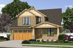 Craftsman House Plan Front of Home - Proctor Hill Craftsman Home  011D-0395 | House Plans and More