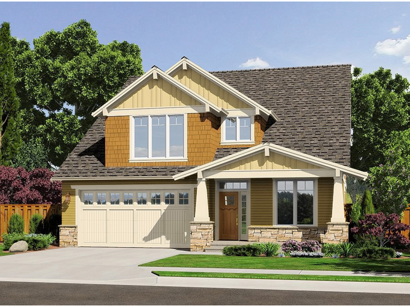 Craftsman House Plan Front Photo 01 - Proctor Hill Craftsman Home  011D-0395 | House Plans and More