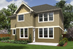 Neoclassical Home Plan Rear Photo 01 - Harpers Pier Craftsman Home 011D-0396 | House Plans and More