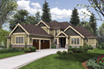 Rustic Home Plan Front Photo 02 - Verbena Craftsman Home : Contemporary Craftsman-Style Home Plans