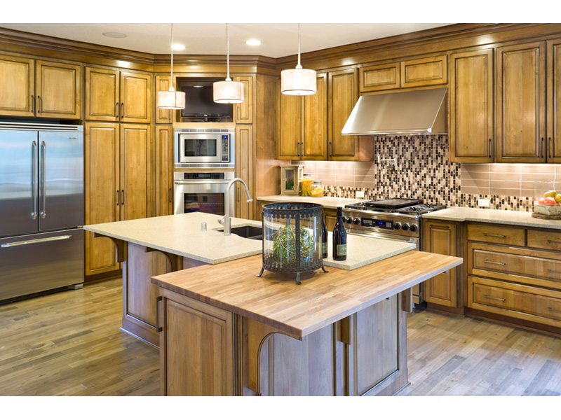 Mountain Home Plan Kitchen Photo 01 - Verbena Craftsman Home : Contemporary Craftsman-Style Home Plans