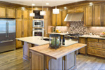 Rustic Home Plan Kitchen Photo 01 - Verbena Craftsman Home : Contemporary Craftsman-Style Home Plans
