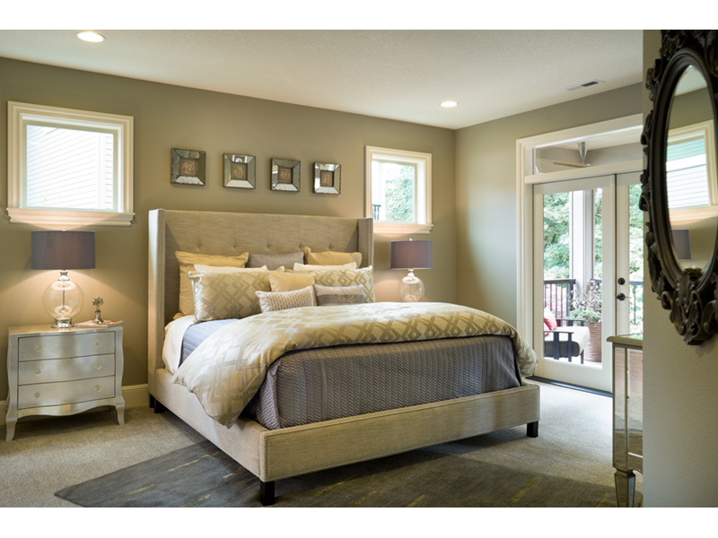 Rustic Home Plan Master Bedroom Photo 02 - Verbena Craftsman Home : Contemporary Craftsman-Style Home Plans
