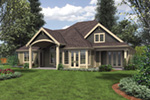 Rustic Home Plan Rear Photo 01 - Verbena Craftsman Home : Contemporary Craftsman-Style Home Plans