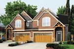 Shingle House Plan Front of House 011D-0428