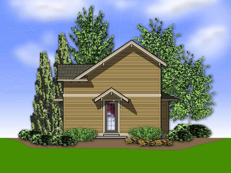 Prairie Style Floor Plan Rear Photo 01 - Daxton Sloping Lot Home 011D-0430 | House Plans and More