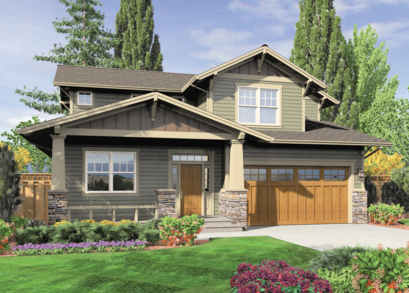 Craftsman House Plan Front of Home -  011D-0440 | House Plans and More
