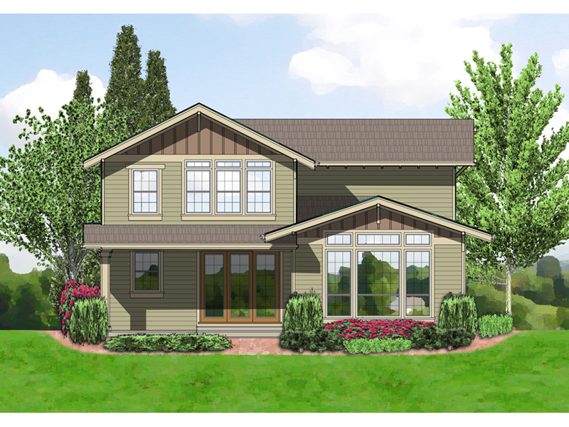 Craftsman House Plan Rear Photo 01 -  011D-0440 | House Plans and More