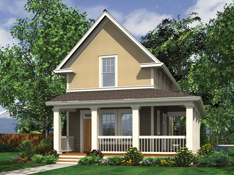 Cabin & Cottage House Plan Front Image - Haverhill Lane Country Home 011D-0446 | House Plans and More