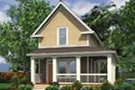 Shingle House Plan Front Image - Haverhill Lane Country Home 011D-0446 | House Plans and More