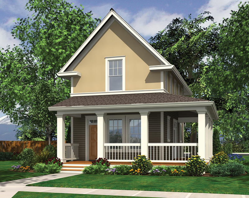 Shingle House Plan Front of Home - Haverhill Lane Country Home 011D-0446 | House Plans and More
