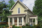 Farmhouse Plan Front of Home - Sunflower Lane Country Home 011D-0447 | House Plans and More