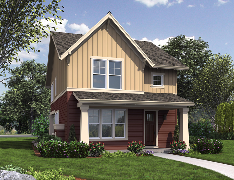 Traditional House Plan Front of Home - Eliza Lane Country Home  011D-0485 | House Plans and More
