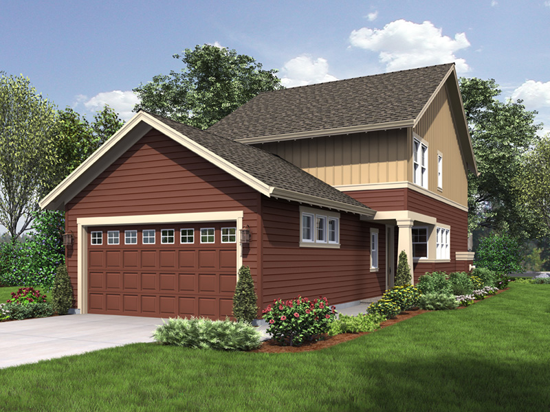 Traditional House Plan Rear Photo 01 - Eliza Lane Country Home  011D-0485 | House Plans and More