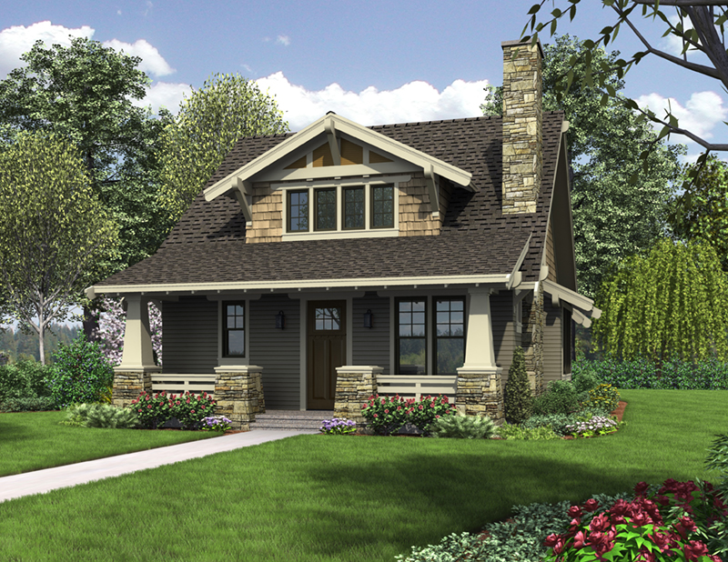 English Cottage House Plan Front of Home -  011D-0489 | House Plans and More