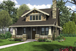 Bungalow House Plan Front of Home -  011D-0489 | House Plans and More