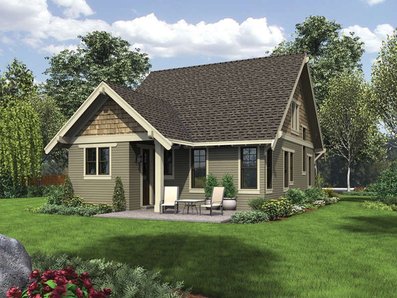English Cottage House Plan Rear Photo 01 -  011D-0489 | House Plans and More