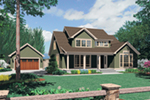 Arts & Crafts House Plan Front of Home - Melba Grove Country Home  011D-0508 | House Plans and More