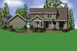 Arts & Crafts House Plan Rear Photo 01 - Melba Grove Country Home  011D-0508 | House Plans and More
