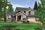Country French House Plan Front Image - Northcreek Lane Craftsman Home  011D-0516 | House Plans and More