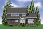 Country French House Plan Rear Photo 01 - Northcreek Lane Craftsman Home  011D-0516 | House Plans and More