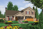 Country House Plan Front of Home - Putnam Lane Craftsman Home  011D-0517 | House Plans and More