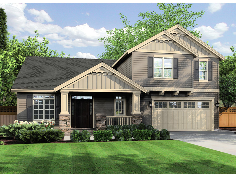 Country House Plan Front Photo 01 - Putnam Lane Craftsman Home  011D-0517 | House Plans and More