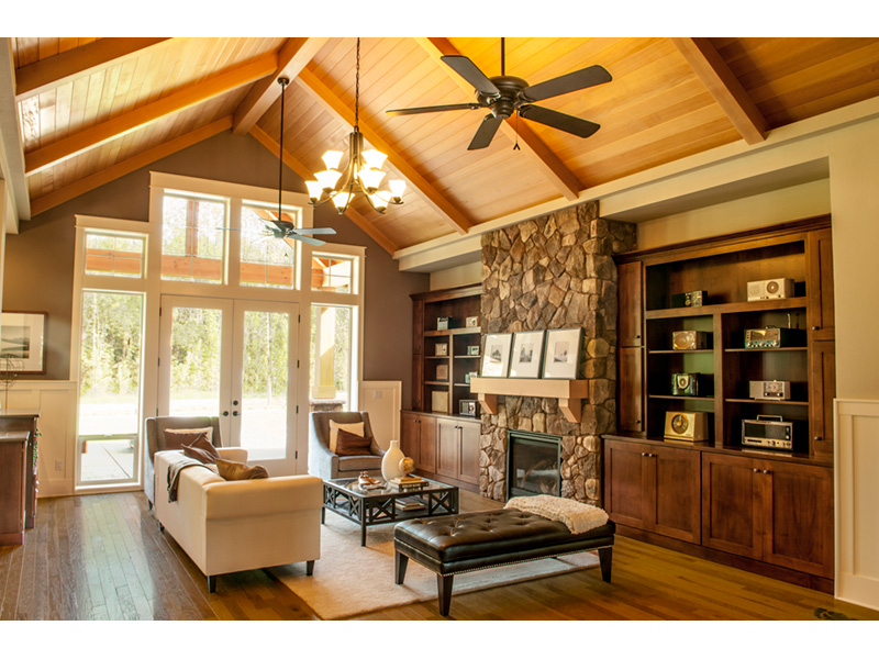 Craftsman House Plan Living Room Photo 01 - Wrights Creek Craftsman Home 011D-0526 | House Plans and More