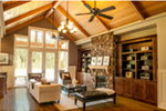 Luxury House Plan Living Room Photo 01 - Wrights Creek Craftsman Home 011D-0526 | House Plans and More