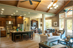 Luxury House Plan Living Room Photo 02 - Wrights Creek Craftsman Home 011D-0526 | House Plans and More