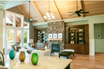 Luxury House Plan Living Room Photo 03 - Wrights Creek Craftsman Home 011D-0526 | House Plans and More