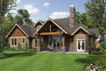 Luxury House Plan Rear Photo 01 - Wrights Creek Craftsman Home 011D-0526 | House Plans and More