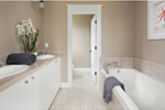 Farmhouse Plan Master Bathroom Photo 01 - Lucy Hill Narrow Lot Home 011D-0542 | House Plans and More