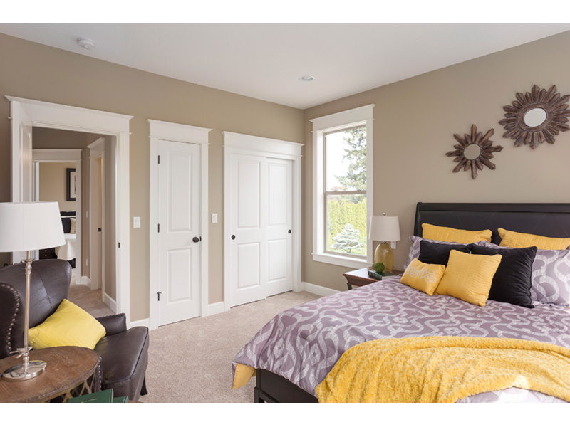 Farmhouse Plan Master Bedroom Photo 02 - Lucy Hill Narrow Lot Home 011D-0542 | House Plans and More