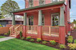 Farmhouse Plan Porch Photo 01 - Lucy Hill Narrow Lot Home 011D-0542 | House Plans and More