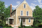 Farmhouse Plan Color Image of House - Lucy Hill Narrow Lot Home 011D-0542 | House Plans and More
