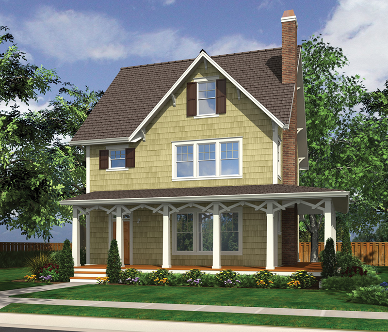 Country House Plan Front of Home -  011D-0548 | House Plans and More