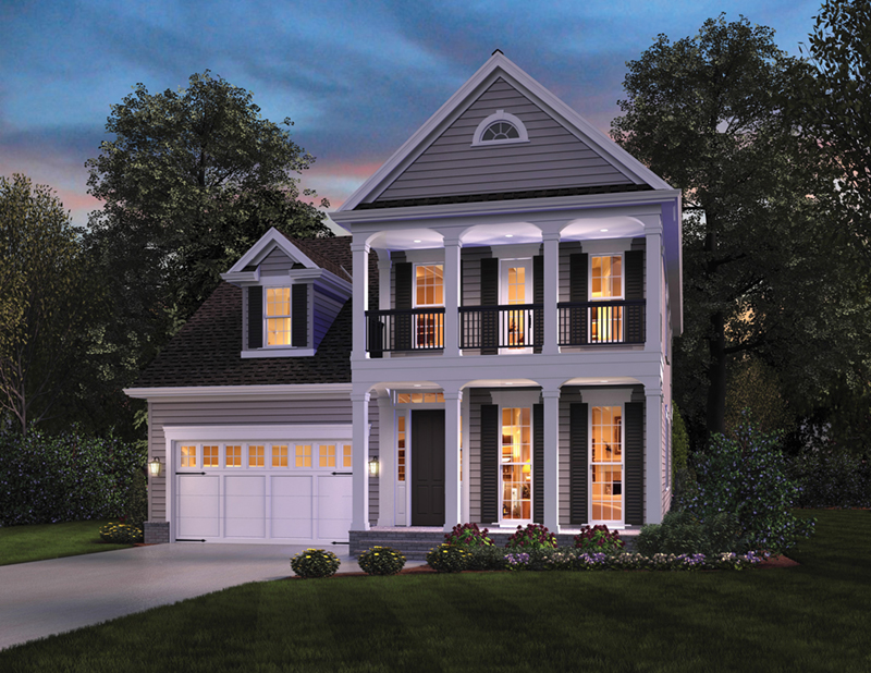 Traditional House Plan Front of Home -  011D-0564 | House Plans and More
