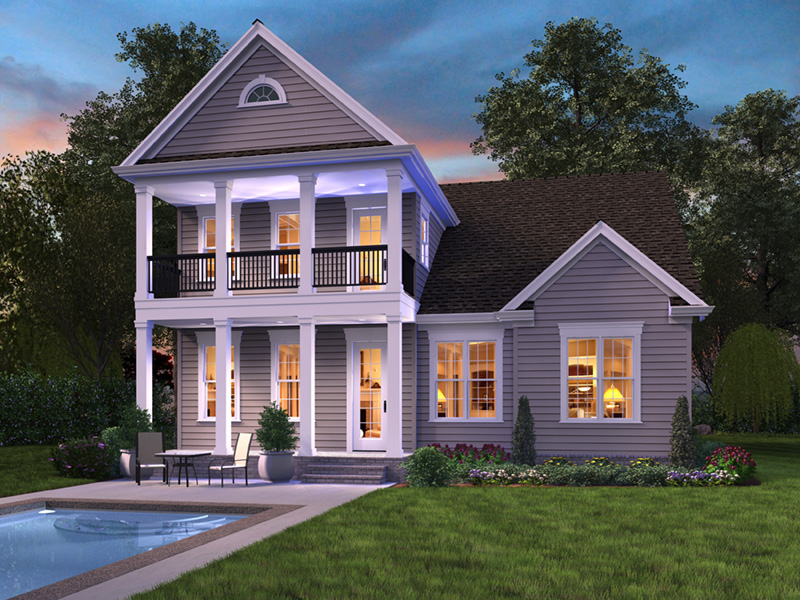 Traditional House Plan Rear Photo 01 -  011D-0564 | House Plans and More