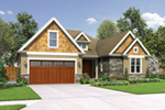 Arts & Crafts House Plan Front of Home - Kerston Craftsman Ranch Home 011D-0573 | House Plans and More